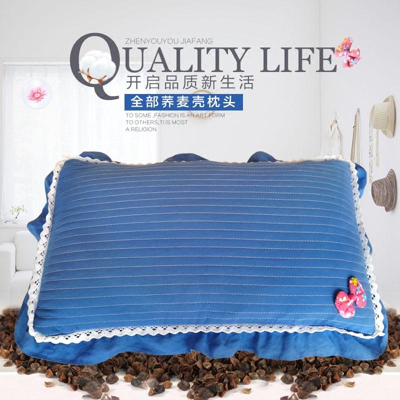 韩式全荞麦成人枕头纯全荞麦壳儿童单人硬枕水洗纯棉学生护颈枕头