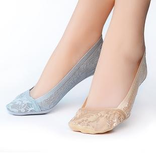 蕾丝浅口隐形夏季硅胶防滑纯棉船袜