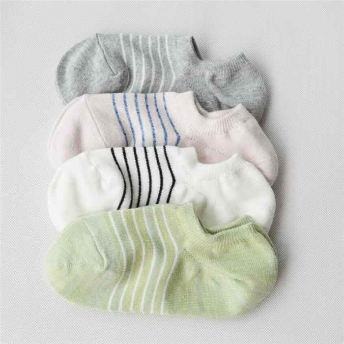 Stripe control fresh Japanese pure cotton invisible socks childrens boat socks anti drop with shallow socks womens socks cotton sports socks