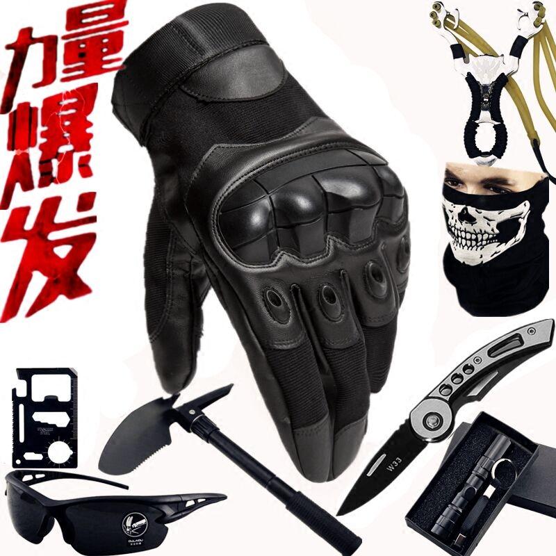 戰術半指手套男士機車摩托騎行防摔裝備戶外健身訓練全指觸屏手套
