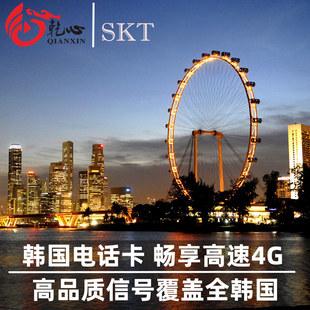 韩国电话卡4/5/6/7天4G手机上网卡3G无限流量首尔釜山济州岛通用