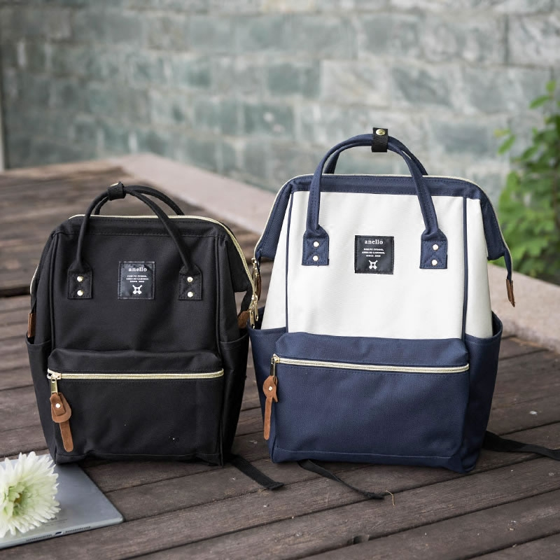 Versatile simple Oxford cloth girls backpack leisure literary mens backpack Korean fashion schoolbag large and small