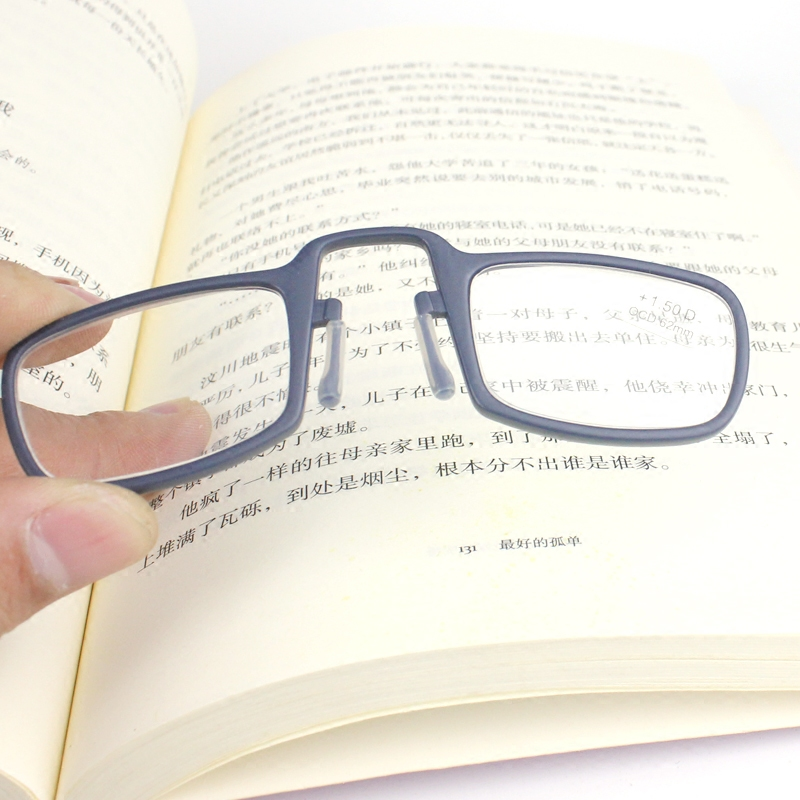 Presbyopia glasses for men and women with nose, portable personality characteristics, presbyopia glasses without glasses legs can hold a magnifying glass reading glasses