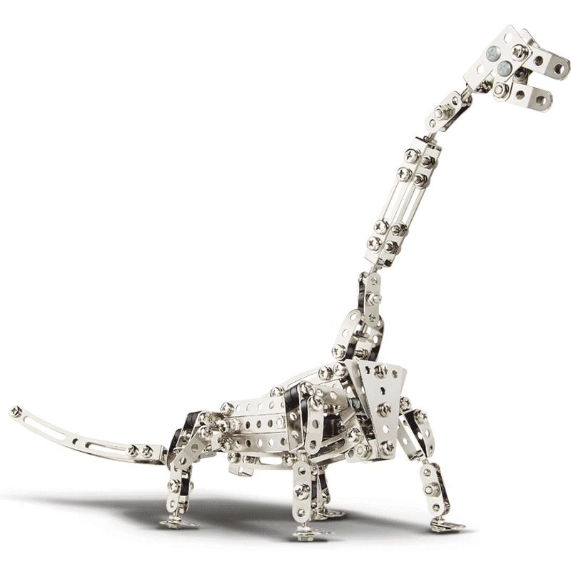 德国进口爱泰eitech儿童拆装玩具侏罗纪霸王龙恐龙金属仿真模型