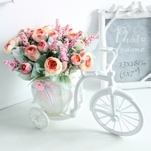Household bedroom simulation flower car set ornaments small ornaments plastic dry flower bouquet indoor guest tea table room decoration fake flowers