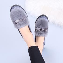 2019新款豆豆鞋女加绒平底毛毛鞋秋冬布鞋低帮开车孕妇休闲鞋棉鞋