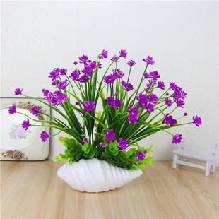 仿真花兰花假花客厅卧室塑料装饰花套装干花桌面绿植摆件小盆栽