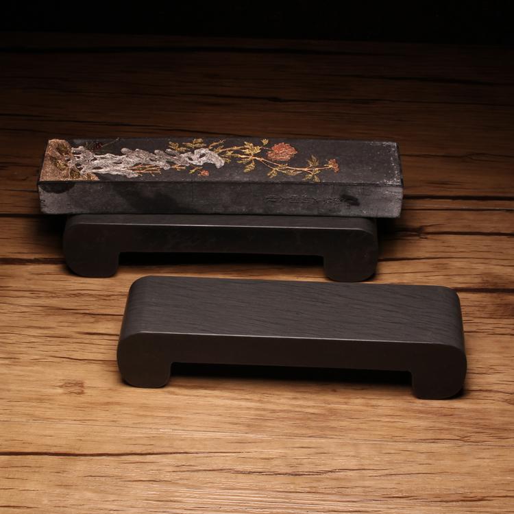 歙砚 歙 Графитовый лоток для чернил с чернилами оригинального натурального камня 砚 Трава Тайваньский текст должен запечатывать базовые чернила полосатый циновка