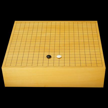 畅销日本原装进口香榧木棋盘115mm厚一枚板柾目独木围棋桌上盘276