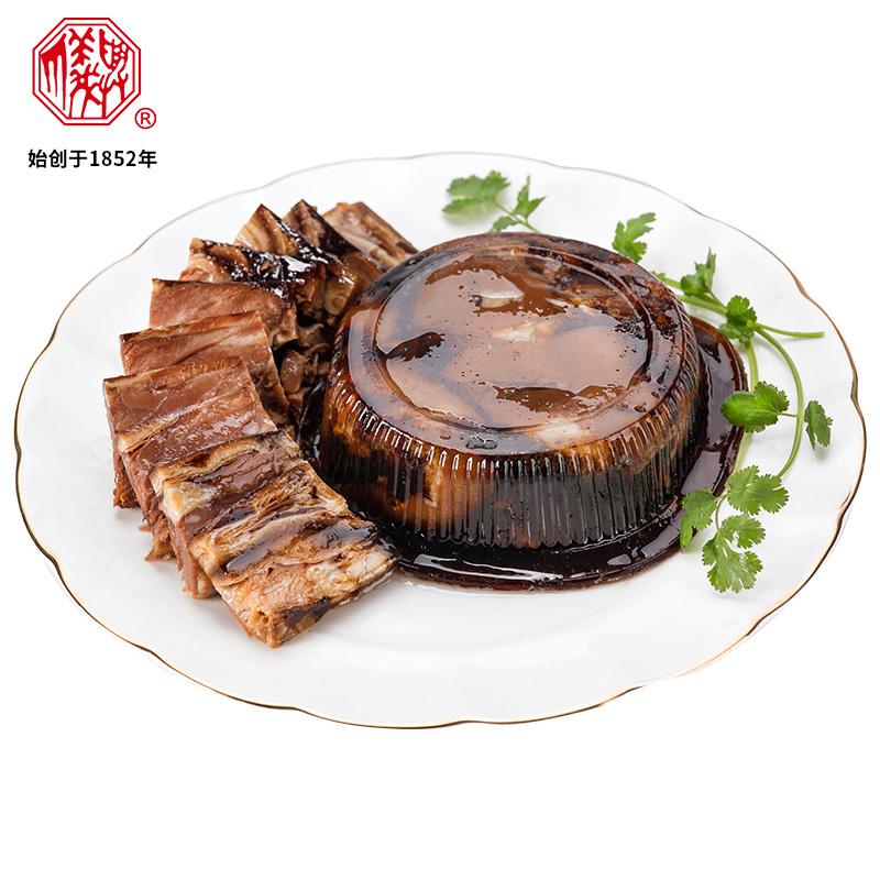 丁义兴枫泾丁蹄680g上海特产卤肉熟食酱香卤味猪蹄�o肘子非遗美食
