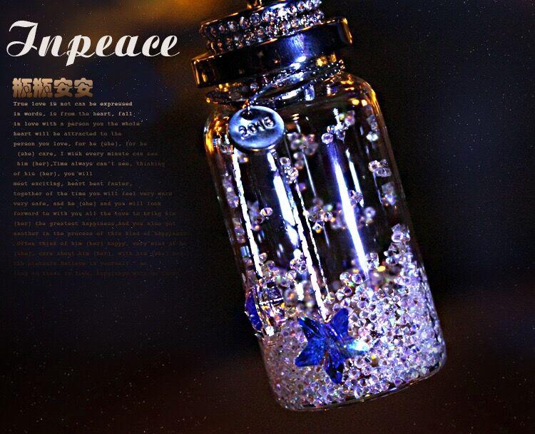 汽车挂件 高档 女士 韩国创意水晶许愿瓶车内饰品摆件 漂亮内饰