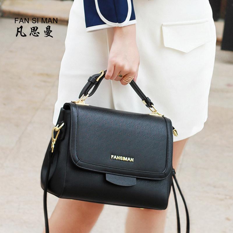 热销斜挎包女2018新款软皮简约大气单肩包手提包女大容量小方包