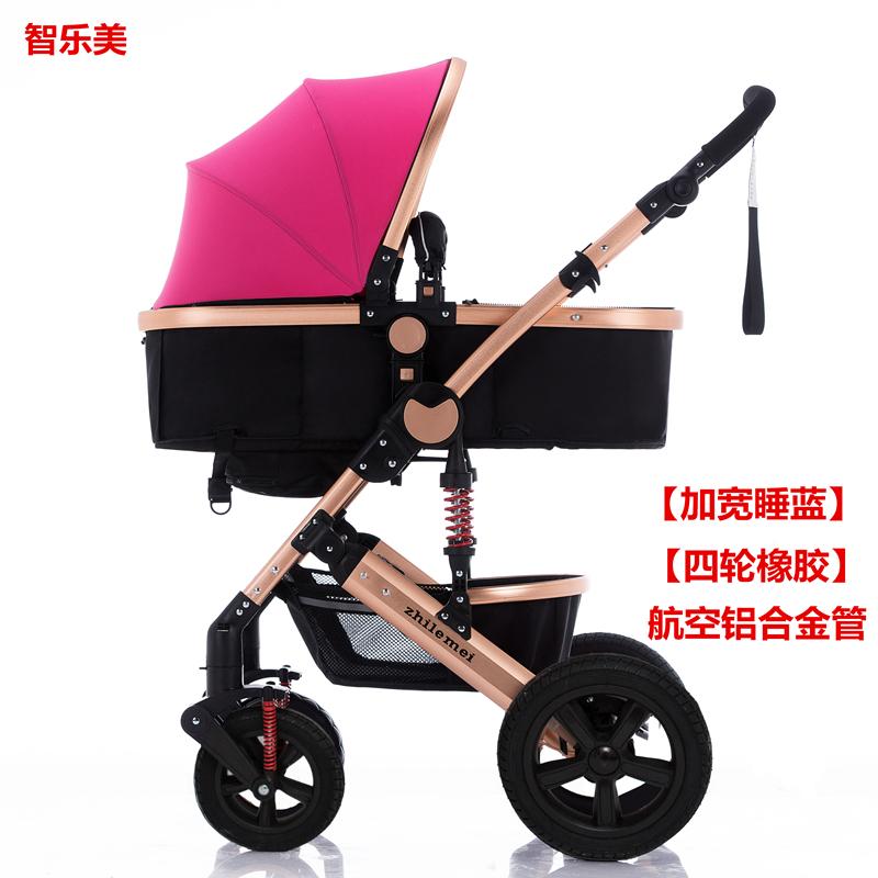 婴儿推车可坐可躺轻便折叠小孩子童车新生婴儿车床两用四轮防爆