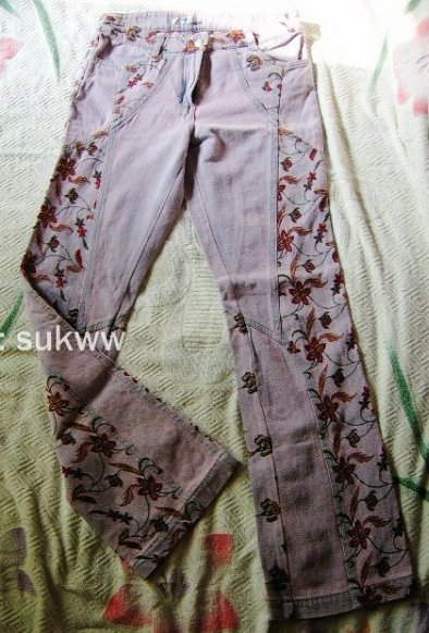 [brand new] [Chongxing special price] embroidered jeans / suitable for thick leg a