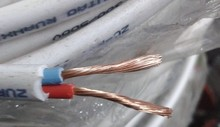 Soft wire and cable 0.75 square 2 core sheathed wire RVV2 * 0.75 signal power cord pure copper