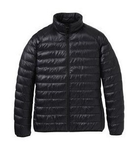 2011 UNIQLO purchasing genuine counter light thin male models down jacket collar