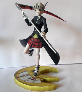 Cute cartoon Maka albarn Soul Eater 3D paper model DIY handmade