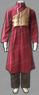 Men Naruto cosplay costume I love the animated version of the second generation long maroon cloak vest