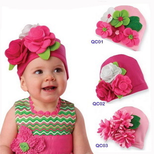 Batch only Europe and the influx of ultra cute set of head cap baby hat Christmas hat knitted hat headdress batch 15 5