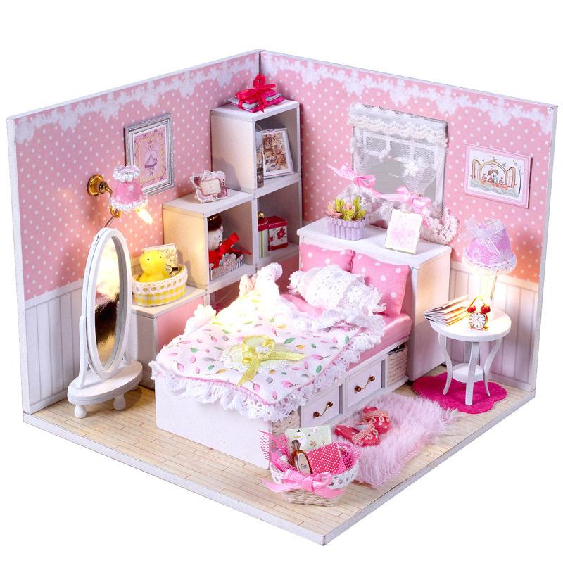 天使之梦diy小屋手工礼物女生公主房子别墅dollhouse模型实用礼品