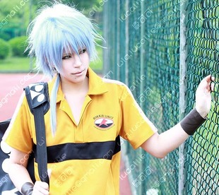 The Prince of Tennis Rikkai Daren Wang Yaping governance fluffy short hair braids handsome gradient cosplay wig