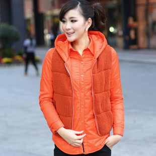 Two piece vest shirt fashion casual cotton vest cotton wool shirt Cotton shirt female long sleeved thick folder Winter