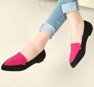 European and American style retro tip in mouth flat shoes shoes shoes mixed colors small yards 313 233 yards 444 546