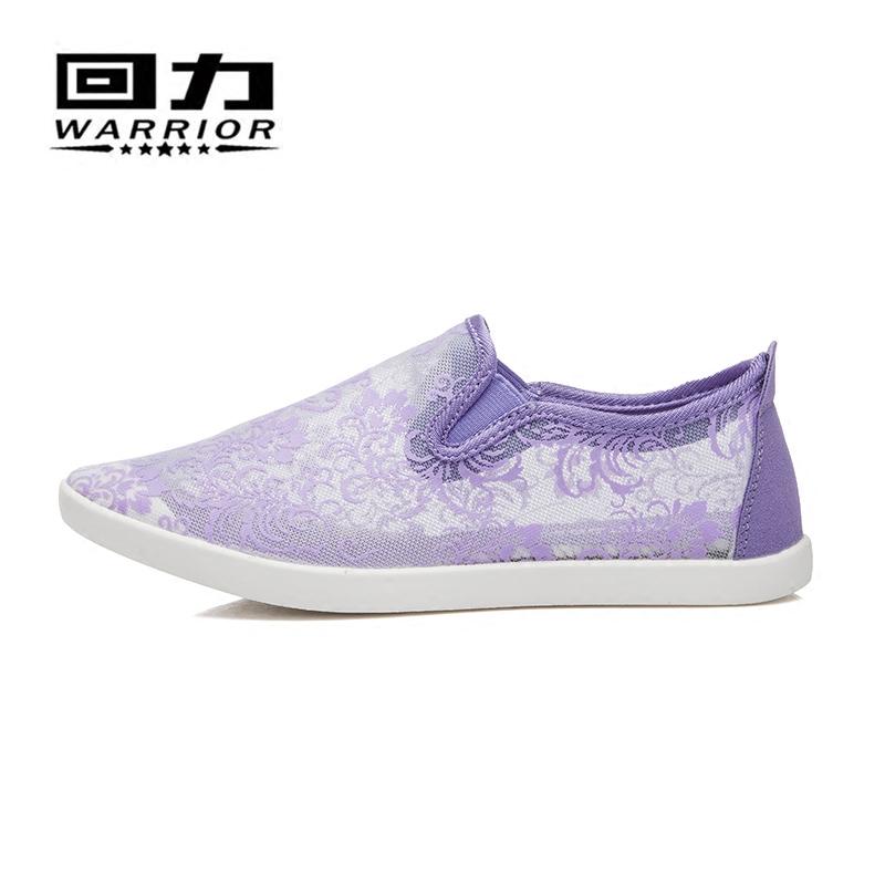 回力女鞋春夏女鞋 鏤空透氣蕾絲 鞋輕便百搭一腳蹬