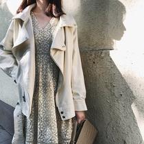 2020春秋款女装小皮衣女PU白色长袖宽松大码显瘦机车皮夹克外套潮