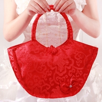 Wedding Bride bag Red Wedding bridesmaid handbag bride red envelope bag bride woman dowry dowry prop