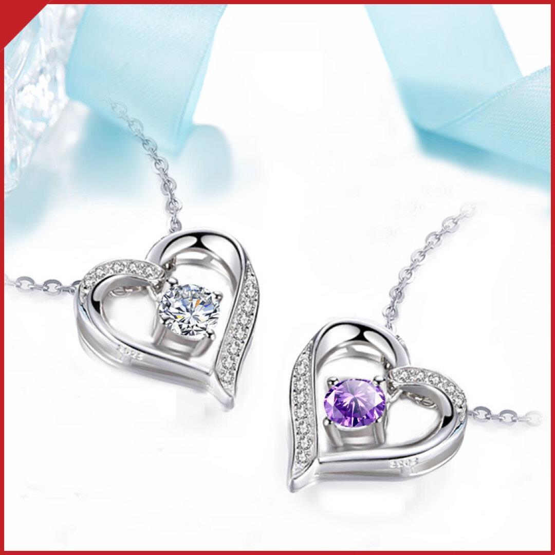 Влиятельное лицо крайний серебро украшения 【 один для жена 】925 серебряное ожерелье женщина сердце мисс ювелирные изделия день святого валентина подарок отдавать