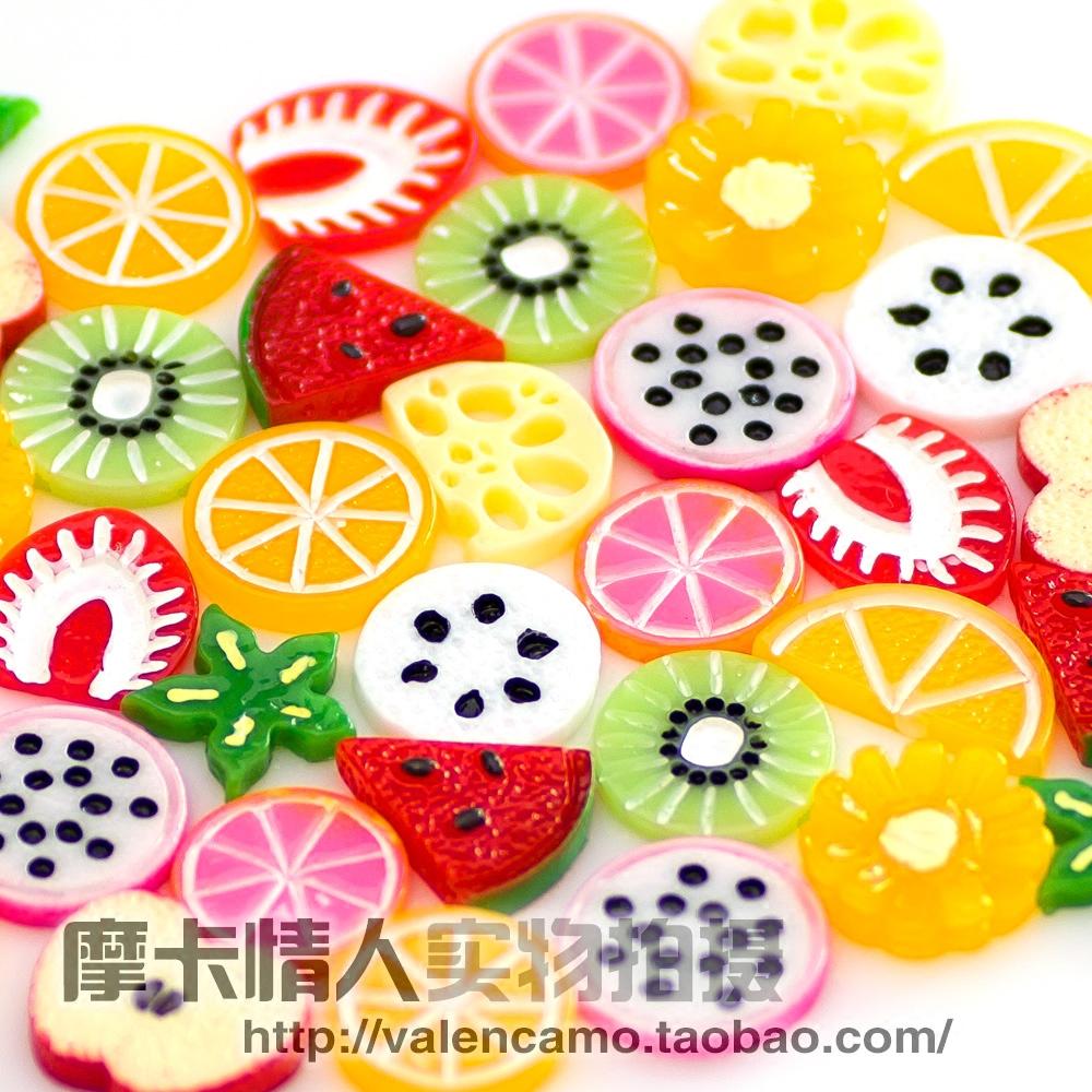 量贩价!摩卡家diy手机壳材料 奶油 树脂配件 水果切片