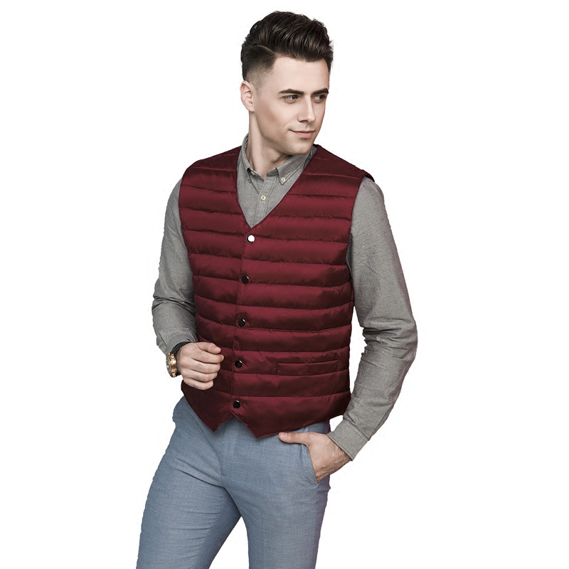 Young and middle-aged autumn and winter warm down jacket waistcoat mens suit plus plus size Korean slim down waistcoat