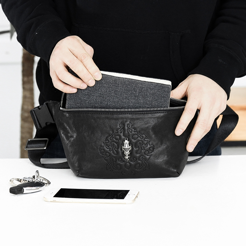 Multi function simple business mens waist bag large capacity fashion casual soft leather collection wallet outdoor travel trendy leather bag