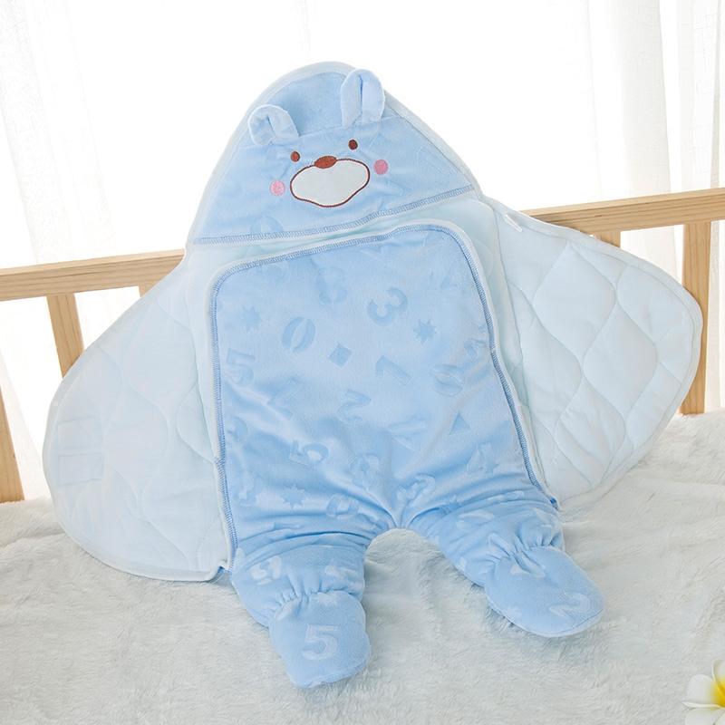 纯棉春秋冬季包被新生儿宝宝品抱被