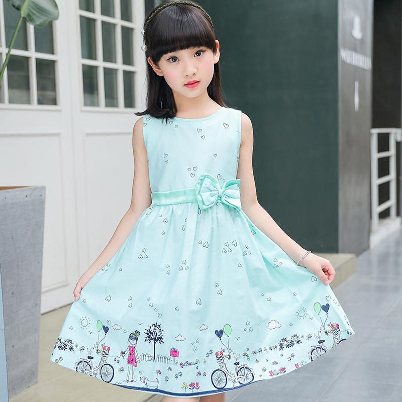 童装儿童裙子女童连衣裙2018夏装新款公主裙纯棉棉布碎花裙背心裙