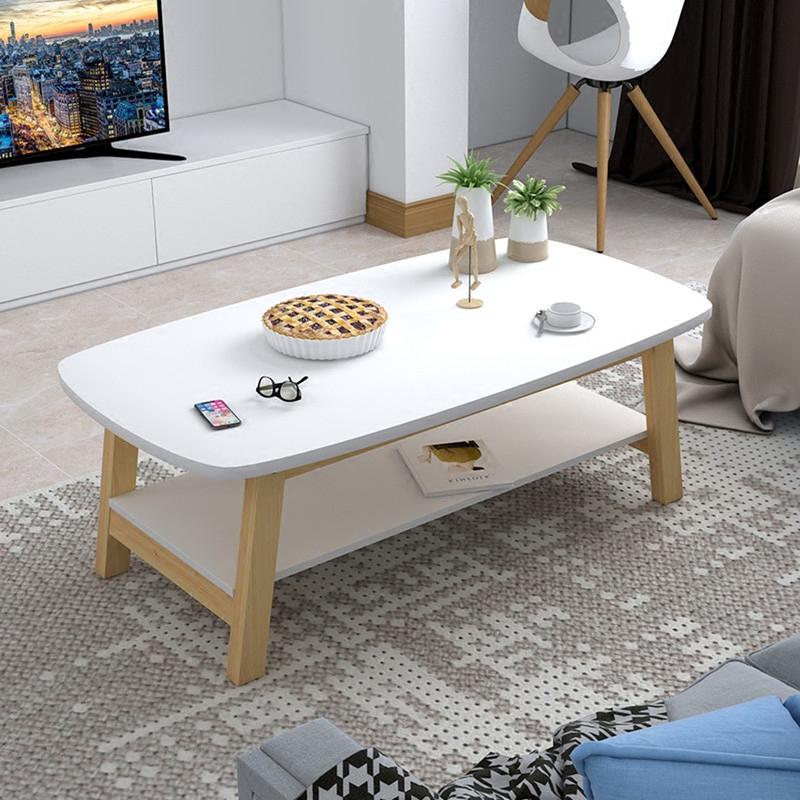 实木茶几简约现代茶几小户型矮桌小桌子创意咖啡桌组装客厅茶几