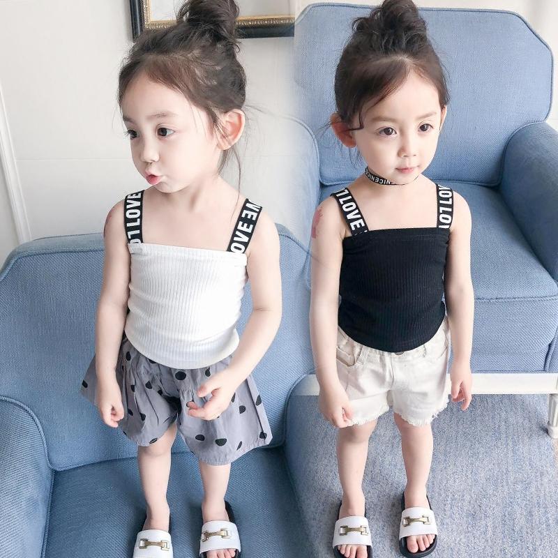 女宝宝吊带背心2018新款夏装婴儿童装女童小童吊带上衣01-2-3-4岁
