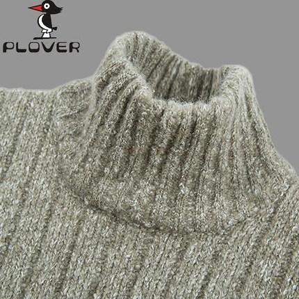 啄木鸟毛衣男青年羊毛衫加厚羊绒衫男半高领套头保暖打底针织衫潮