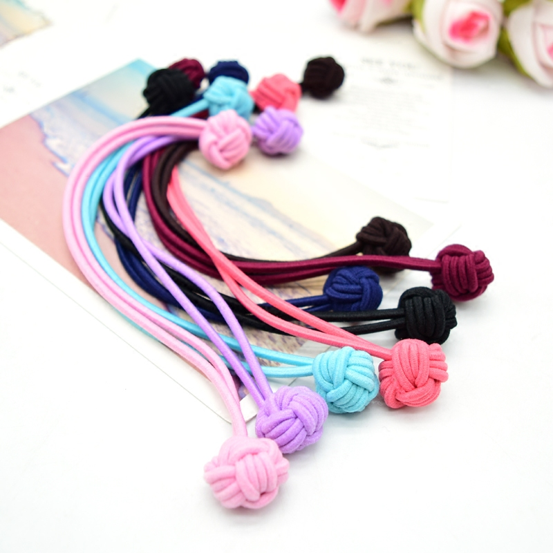 Korean version of childrens headwear buckle foundation long rubber band JD big elastic practical long rubber band price