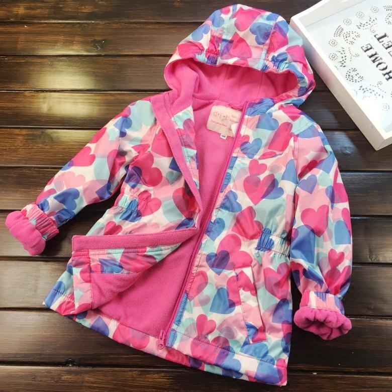 Европа и америка ребятишки девочки любовь закрытый плюс бархат куртка 2017 новинка зимний осеннний ребенок талия ветролом пальто