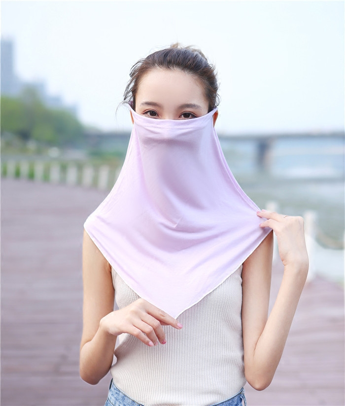 Ms. modals outdoor mask, driving, cycling, neck protection, neck collar, sunshade and sunscreen shawl mask, cotton for ventilation in summer
