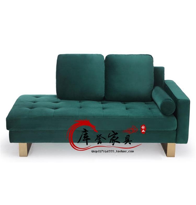 Американский современный простой металл нержавеющей стали королевский диван дизайн мягкий наряд модель дом ткань многоцветный песок двойной волосы стул