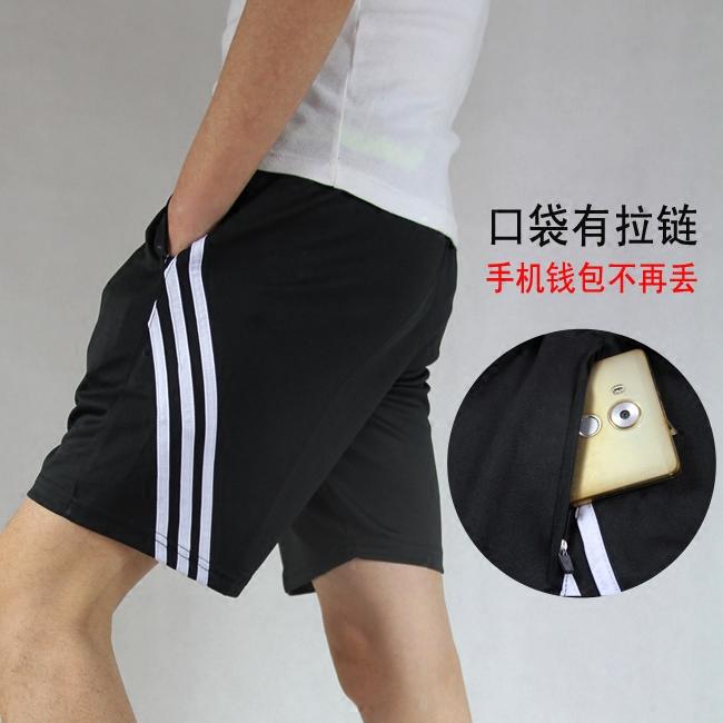 夏季新款篮球足球短裤运动短裤五分裤男修身跑步健身裤速干透气