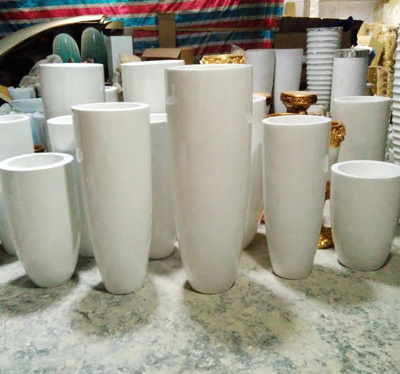 玻璃钢落地大花瓶现代酒店客厅摆件家居装饰品婚房礼品自产子弹头