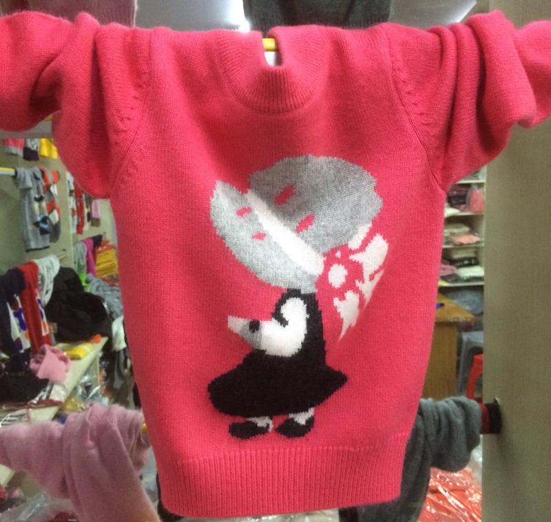 秋冬儿童羊绒衫女童毛衣宝宝套头圆领针织羊毛衫新款加厚打底线衫