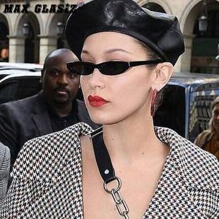 神器X欧美街拍复古明星款椭圆墨镜小框眼镜方形框水滴眼镜挂鼻装