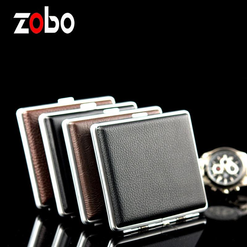 正牌煙盒20支裝便攜超薄 簡約男士自動彈煙香菸金屬皮紋煙盒