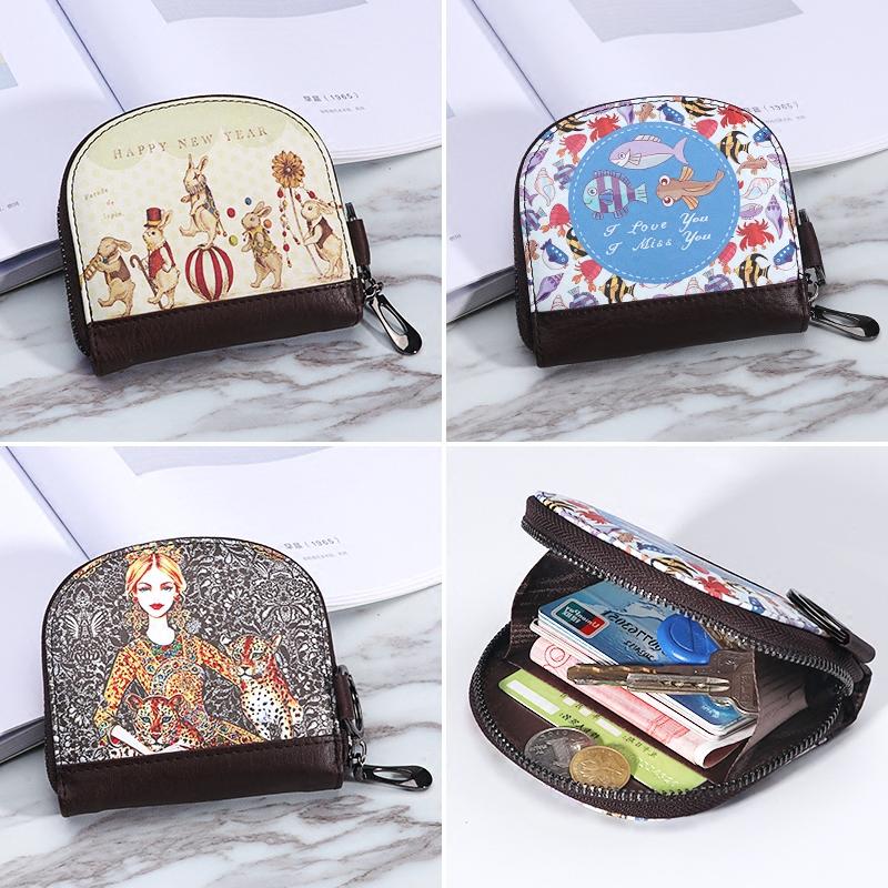 Cute zero wallet female Mini Korean version simple personality Small Wallet Zipper Pocket key chain Korean coin bag
