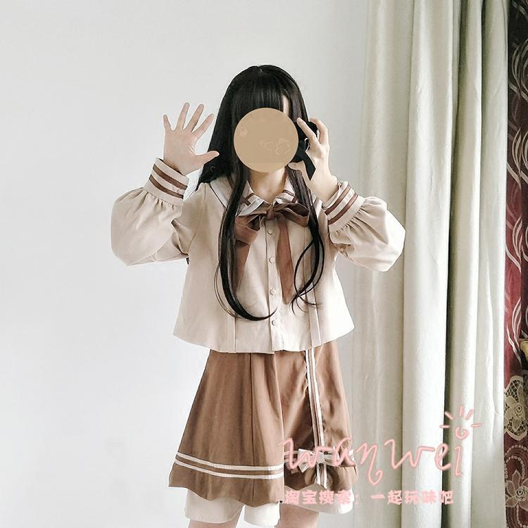 热销19件手慢无甜美杏仁可可可爱学院风娃娃领制服